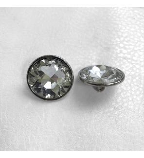 Мебельные пуговицы-стразы ED4063, кристалл, диаметр 30 мм