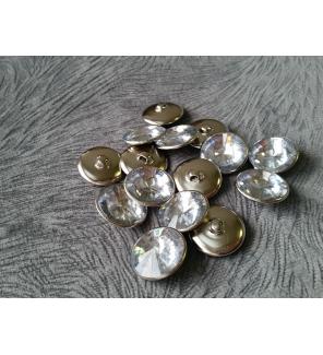 Мебельные пуговицы-стразы GB4125, акрил, диаметр 25 мм