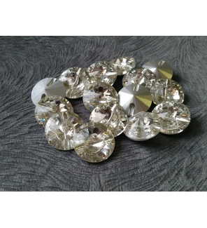 Мебельные пуговицы-стразы TC1025, кристалл, диаметр 25 мм