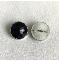 Мебельные пуговицы-стразы GB0300 C, диаметр 21 мм, черные