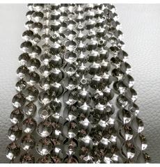 Гвоздевой молдинг (9,5 мм) серебро