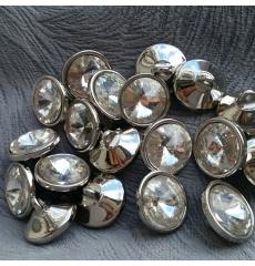 Мебельные пуговицы-стразы GB0299, кристалл, диаметр 18 мм