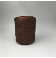 Нить коричневая вощеная для каретной стяжки, 100% полиамид, 500 метров