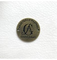 Металлический логотип