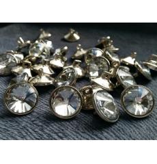Мебельные пуговицы-стразы ED1103, кристалл, диаметр 16 мм