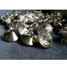 Мебельные пуговицы-стразы GB0298 С, кристалл, диаметр 20 мм